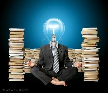 8992944-businessman-in-yoga-pose-and-lamp-head-with-many-books-near