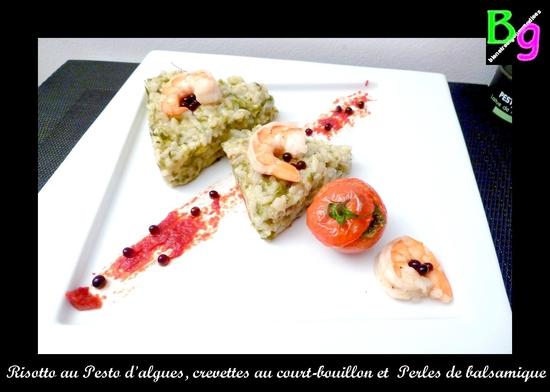 risotto aux algues pesto