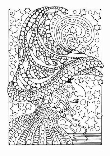 Kleurplaat tovenaar ~ Coloring page of a wizard
