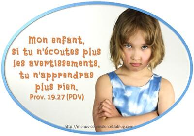 Proverbes 19 - Lecture et Prière