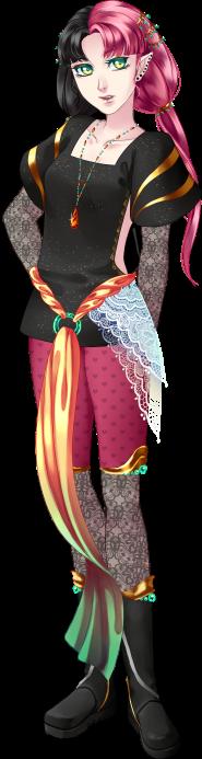 La mystérieuse fille aux cheveux bicolore = Karenn