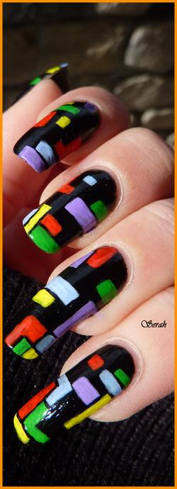 Nail art Tetris