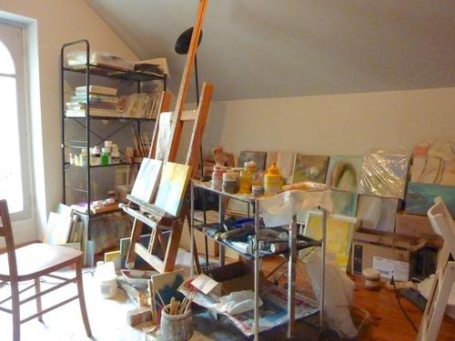 Tout en haut, mon nouvel atelier