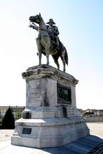 La statue de l'empereur Napoléon Bonaparte