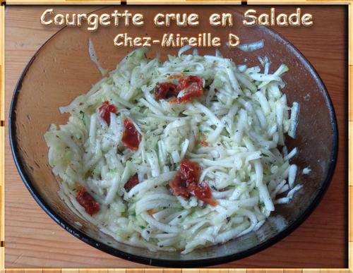 Courgette crue en Salade