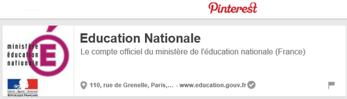 Pinterest, education nationale,