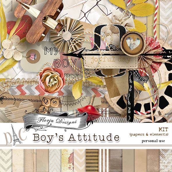 Boys Attitude { Kit PU } by Florju Designs