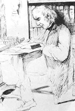 Bronson Alcott sketched by daughter May