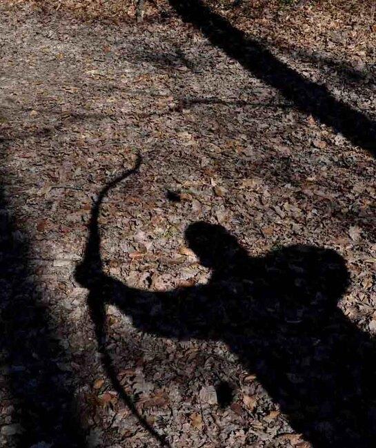 Le combat avec son ombre, tir à l'arc instinctif