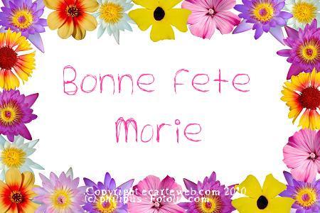 """BONNE FÊTE AUX """"MARIE"""""""