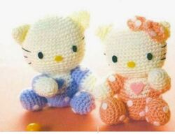 Une Hello Kitty au tricot..