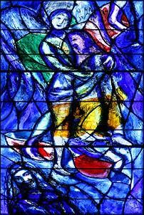 Kirchenfenster Blau