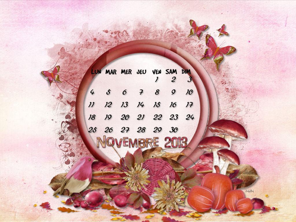 Fond d 39 cran calendrier novembre 2013 mcreations for Fond ecran novembre
