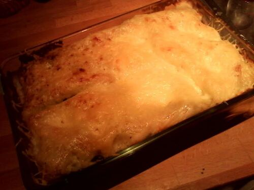 Lasagne épinards/champignons/chèvre frais ...parce que ça faisais longtemps