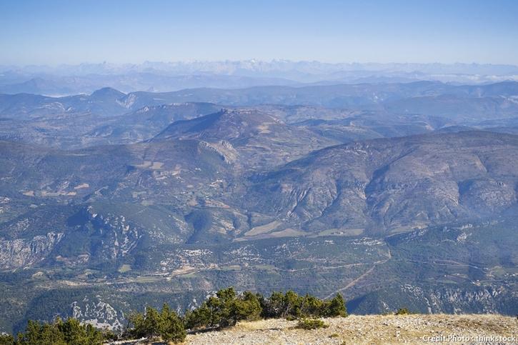 vue depuis le mont venteux