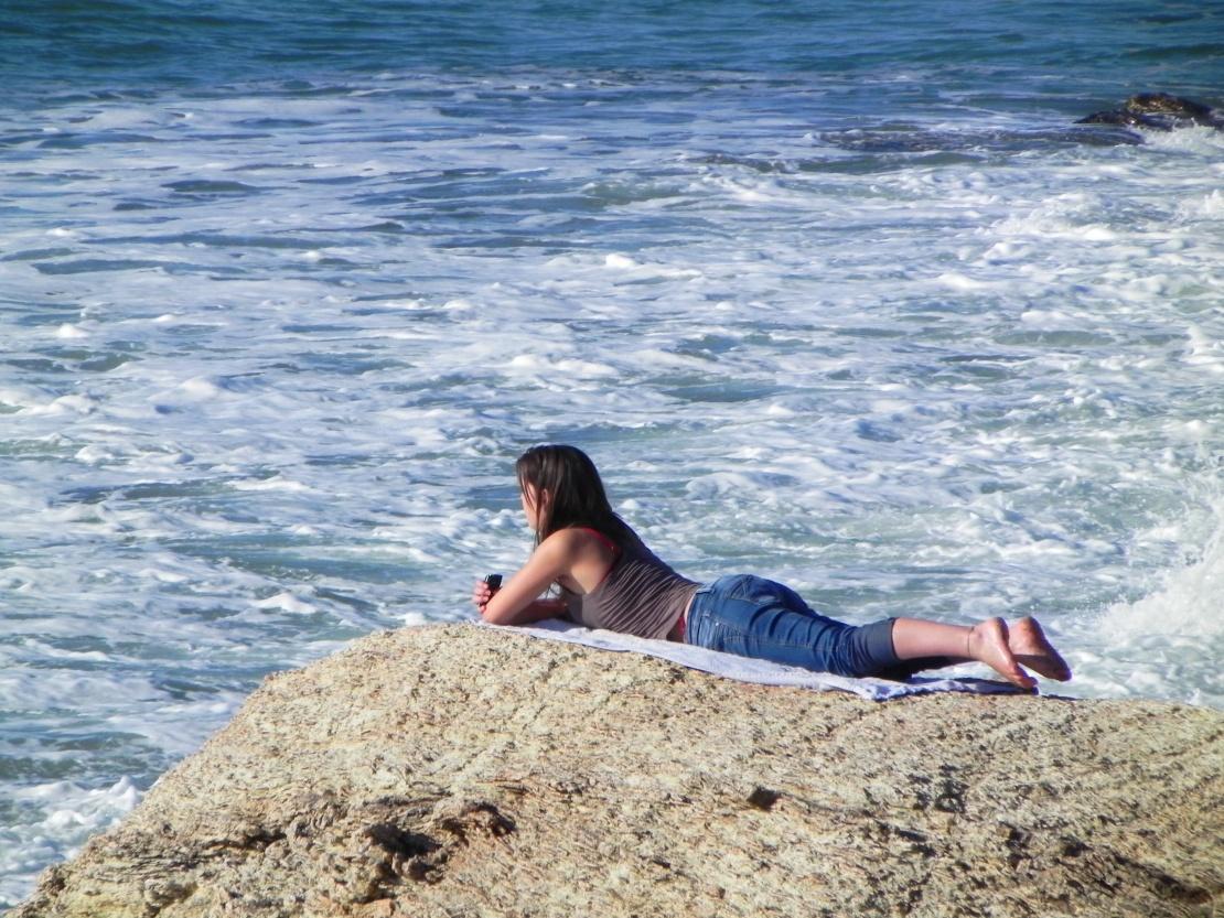 une fille qui aime la mer ...