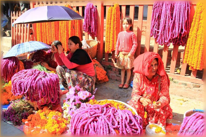 Offrandes, Katmandou