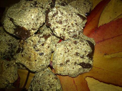 Biscuit/cookies banane/chocolat à la farine de châtaigne {Vegan} {Sans Gluten}