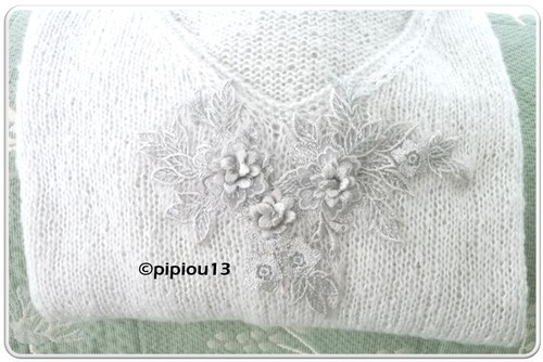 Pull gris perle :  encours terminé et projet de mars