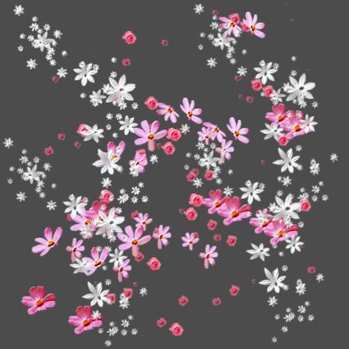 Fonds de blog ou écran fleur et papillons