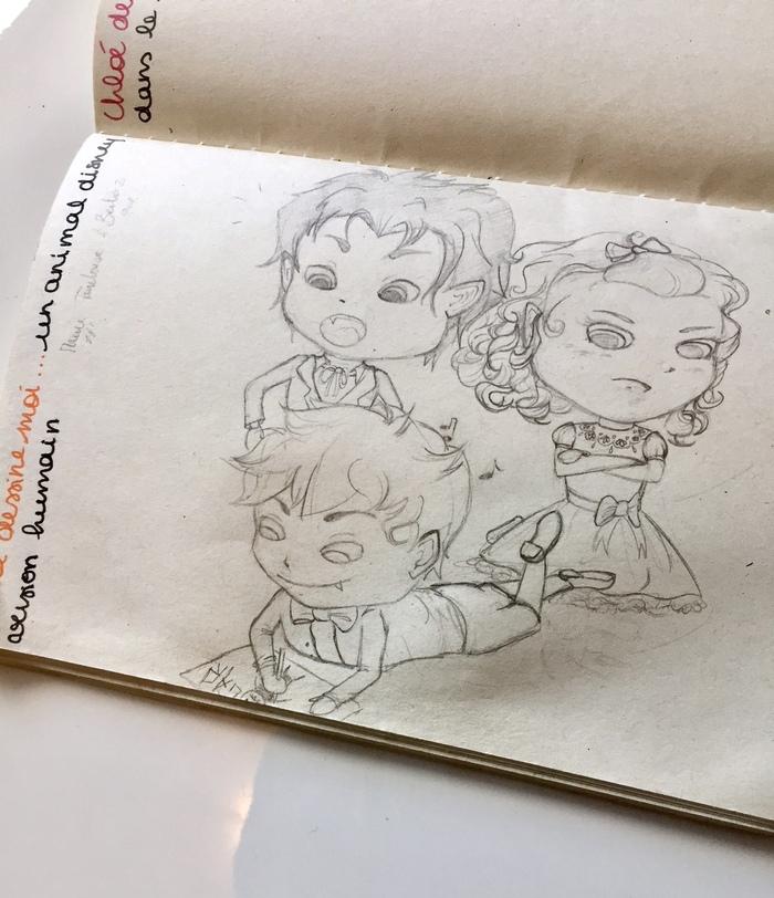 """Carnet """"Chloé, dessine moi..."""""""