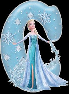 Alphabet la Reine des neiges en png
