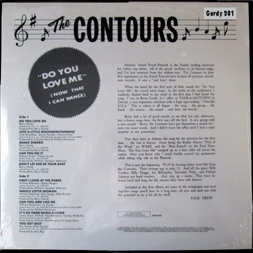 "The Contours : Album "" Do You Love Me [ Now That I Can Dance ] "" Gordy Record 901 [ US ]"