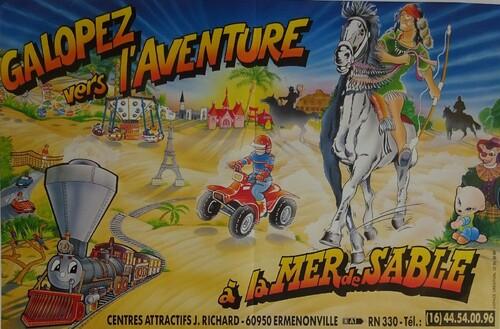 affiches de la Mer de Sable ( archives Jean Paul Pouvreau)