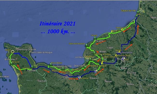Itinéraire 2021