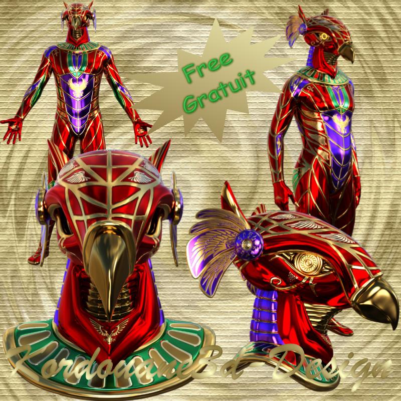 Horus : Divinité égyptienne (tube-poser)