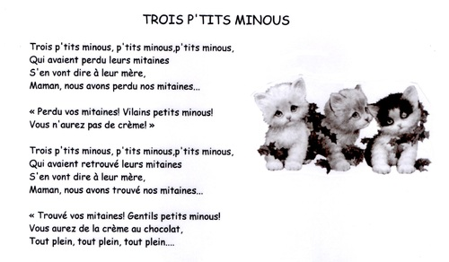 comptines d'animaux