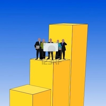 3745004-business-team-with-sign-on-giant-graph-illustration