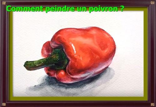 Dessin et peinture - vidéo 2900 : Comment peindre un piment rouge à l'aquarelle ?