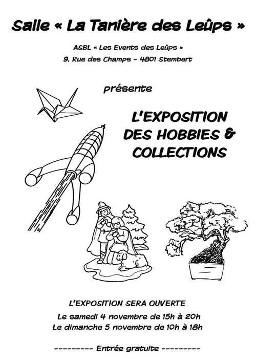 Retrouvez moi à l'exposition des Hobbies et Collections !