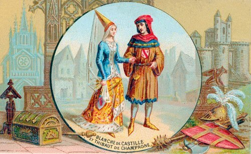 Blanche de Castille et Thibaud de Champagne
