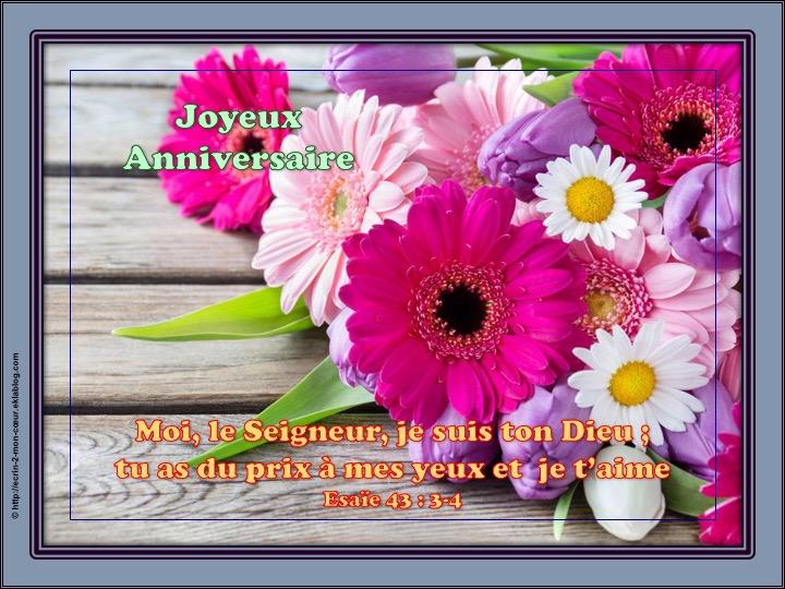 Joyeux Anniversaire - Esaïe 43 : 3-4