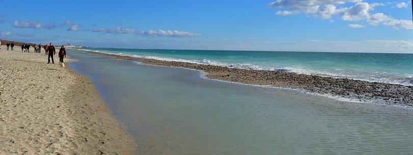sur la plage imaginée ..