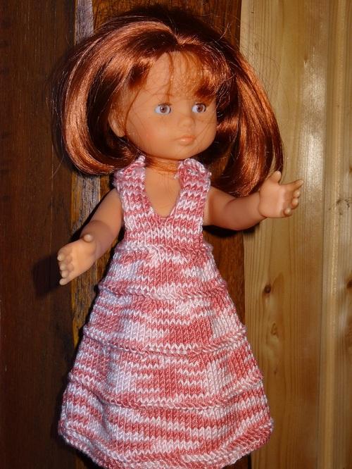 Fiche gratuite vêtements de poupée N° 205: robe poupée 33cm