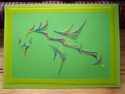 Mon dragon en broderie sur papier