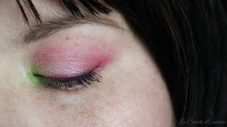 rose et vert - make up de printemps