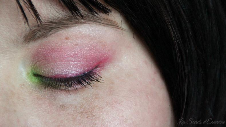 rose et vert - make up de printemps