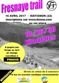 Marche Nordique de La Freynaye - Matignon(22) - Dimanche 16 avril 2017