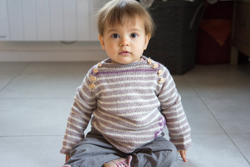 Mylène - Tricot : Pull Eledone - Test Knit