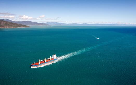 Cargo au large de l'Australie