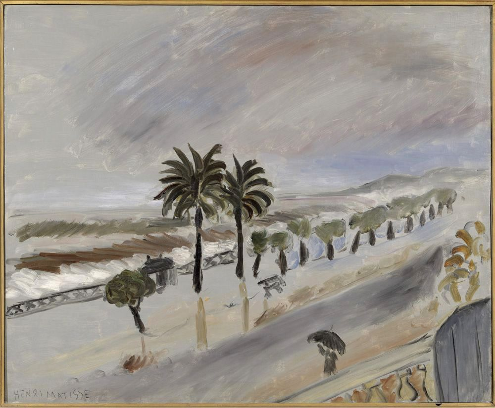 Tempête sur Nice...oui, avec le charençon qui le ronge, les palmiers sont sous la tempête...