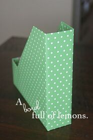 A bowl full of lemons.: How to make Magazine/Scrapbooking Paper storage boxes... YOURSELF! :)