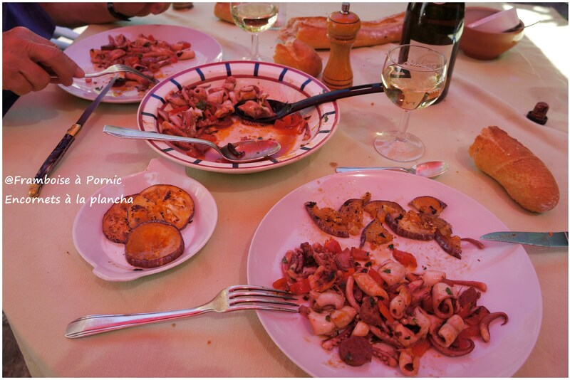Encornets Chorizo à la plancha