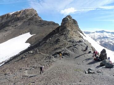 Vue du Col des Fours (2976 m) - Pointe de l'Arcelle (3137 m)