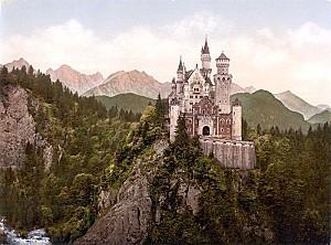 neuschwanstein castle loc print