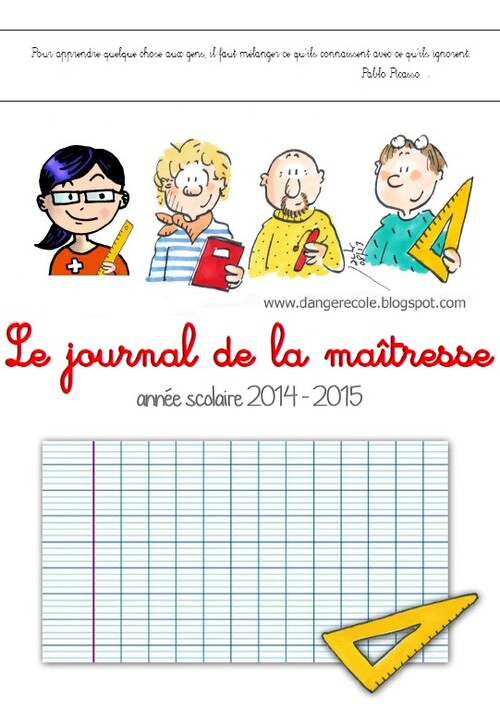 Le journal de la maîtresse version 2014 - 2015